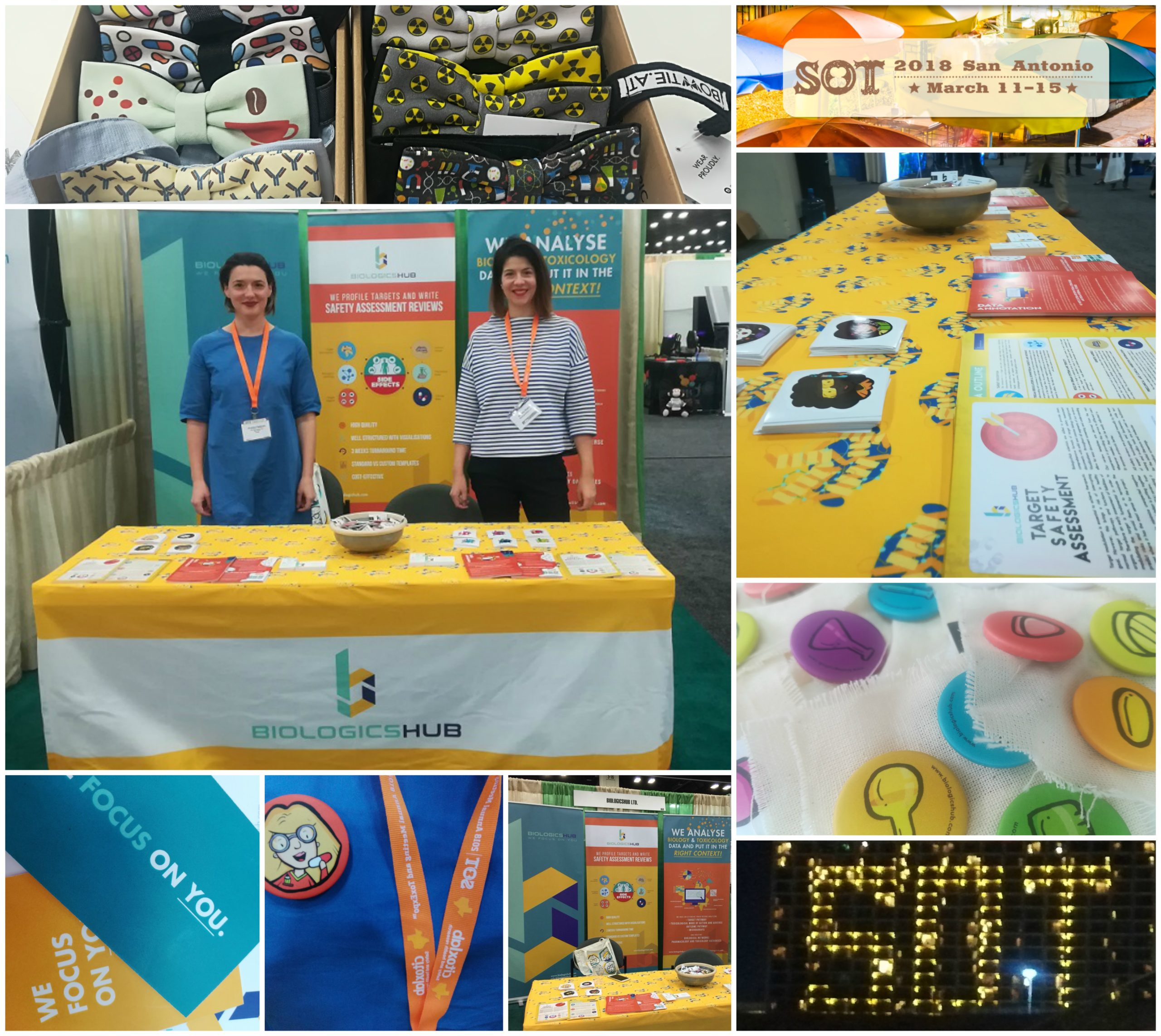 BiologicsHub Science Shaped And Shaded In Lots Of Colors @ Our First SOT2018 Booth!